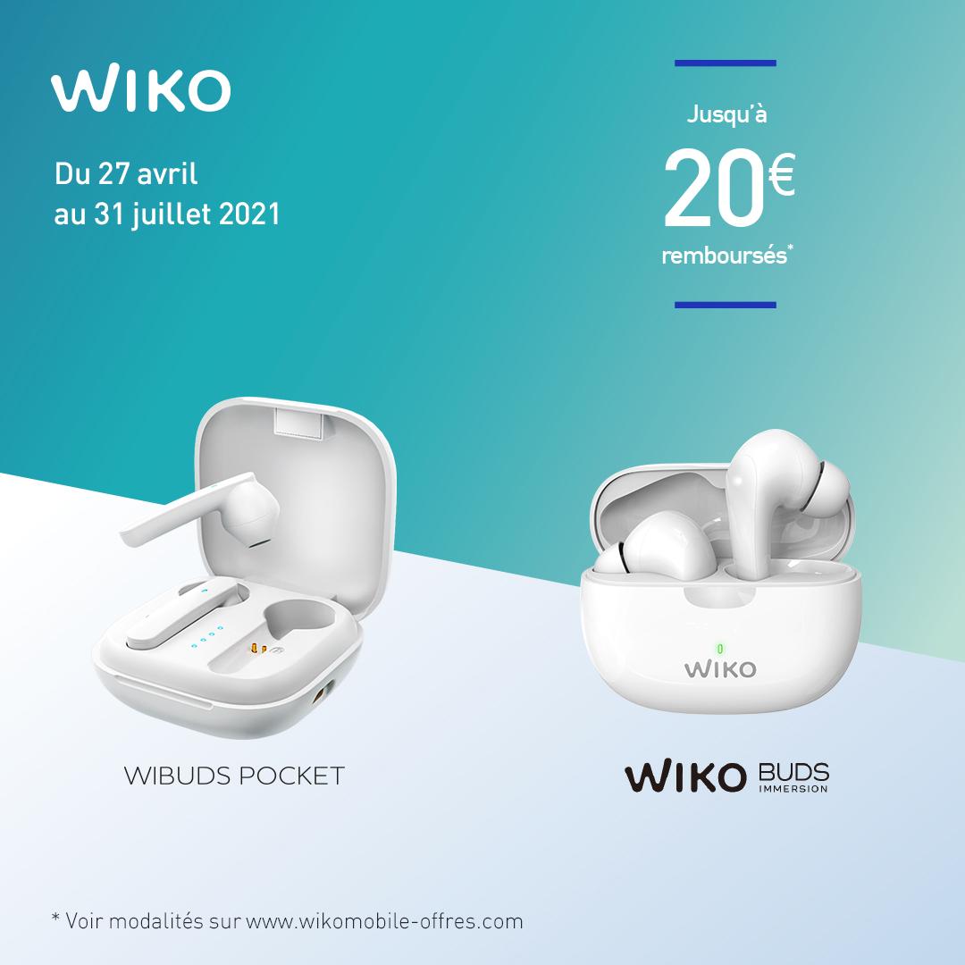 Jusqu'à 20€ remboursés pour l'achat d'une paire d'écouteurs True Wireless Wiko